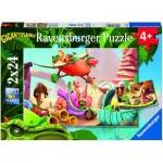 Ravensburger-05126 2 Puzzles - Gigantosaurus