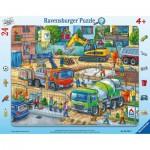 Ravensburger-05142 Rahmenpuzzle - Baustelle