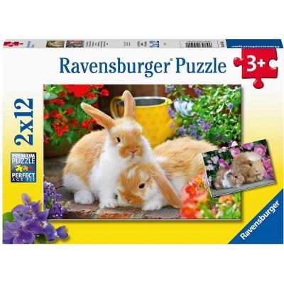 Ravensburger-05144 2 Puzzles - Kleine Kuschelzeit