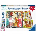 Ravensburger-05155 3 Puzzles - The Aristocats
