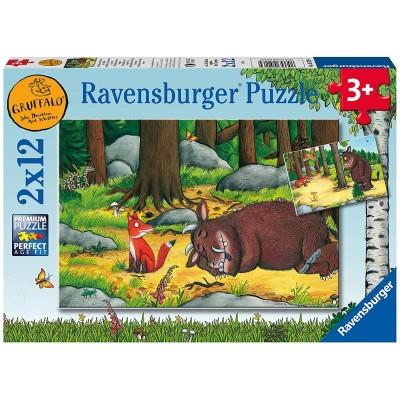Ravensburger-05226 2 Puzzles - The Gruffalo