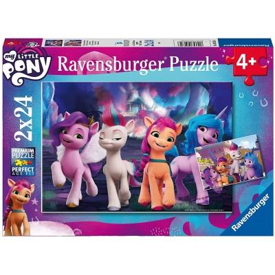 Ravensburger-05235 2 Puzzles - My little Pony