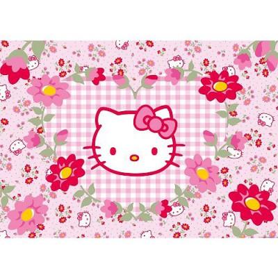 Puzzle Ravensburger-05262 Hello Kitty im Blumenmeer