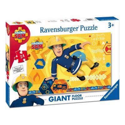 Ravensburger-05446 Riesen-Bodenpuzzle - Feuerwehrmann Sam