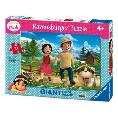 Ravensburger-05461 Riesen-Bodenpuzzle - Heidi
