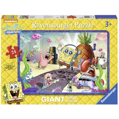 Ravensburger-05473 Riesen-Bodenpuzzle - SpongeBob liebt Musik