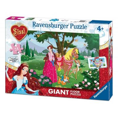 Ravensburger-05487 Riesen-Bodenpuzzle - Sissi