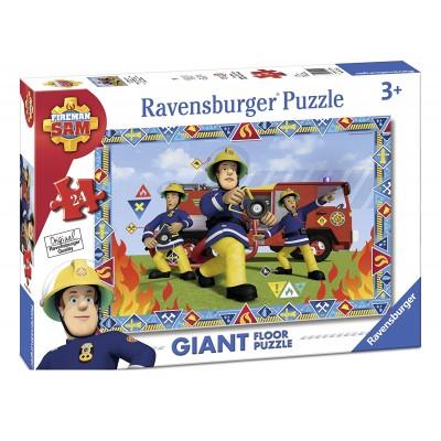 Ravensburger-05521 Riesen-Bodenpuzzle - Fireman Sam