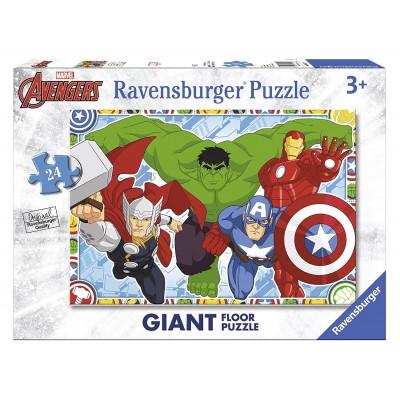 Ravensburger-05522 Riesen-Bodenpuzzle - Marvel