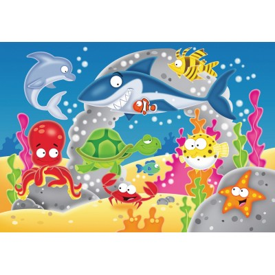 Ravensburger-05610 My First Outdoor Puzzles - Abenteuer unter Wasser