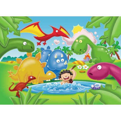 Ravensburger-05611 My First Outdoor Puzzles - Dinosaurier Freunde