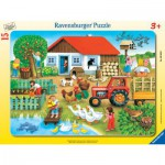 Ravensburger-06020 Rahmenpuzzle - Bauernhof