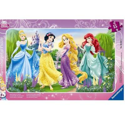 Ravensburger-06047 15 Teile Rahmenpuzzle - Der Spaziergang der Prinzessinnen
