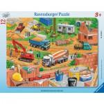 Ravensburger-06058 Rahmenpuzzle - Arbeit auf der Baustelle
