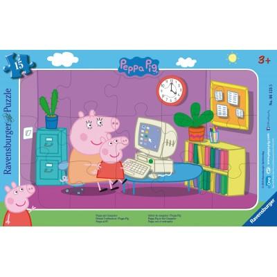 Ravensburger-06123 Rahmenpuzzle - Peppa Pig