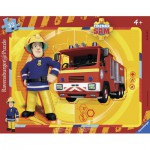 Ravensburger-06132 Rahmenpuzzle - Feuerwehrmann Sam