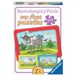 Ravensburger-06134 My First Puzzle - Esel, Schaf und Ziege