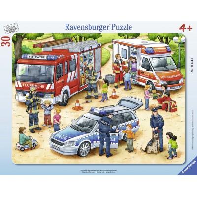 Ravensburger-06144 Rahmenpuzzle - Spannende Berufe