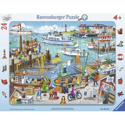 Ravensburger-06152 Rahmenpuzzle - Ein Tag Am Hafen