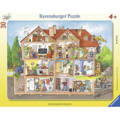 Ravensburger-06154 Rahmenpuzzle - Blick ins Haus