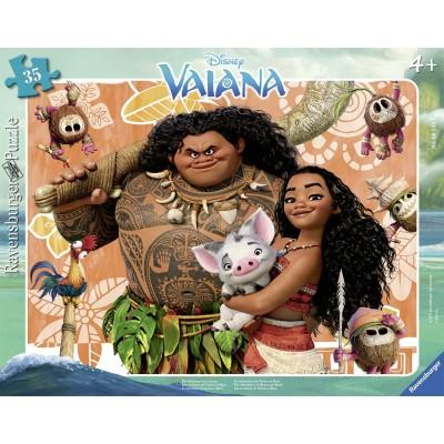 Ravensburger-06156 Rahmenpuzzle - Disney Vaiana