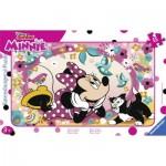 Ravensburger-06158 Rahmenpuzzle - Minnie und Figaro