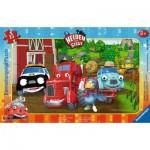 Ravensburger-06160 Rahmenpuzzle - Helden der Stadt