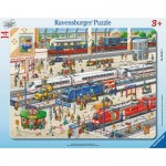 Ravensburger-06161 Rahmenpuzzle - Am Bahnhof