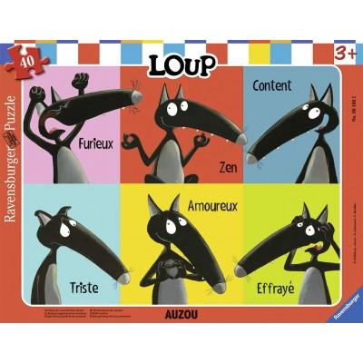 Ravensburger-06166 Rahmenpuzzle - Loup