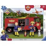 Ravensburger-06169 Rahmenpuzzle - Feuerwehrmann Sam