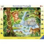 Ravensburger-06171 Rahmenpuzzle - Dschungelbewohner