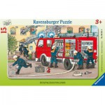 Ravensburger-06321 Rahmenpuzzle - Feuerwehr