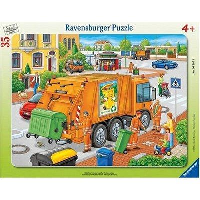 Puzzle  Ravensburger-06346 Die Müllabfuhr
