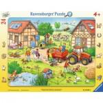 Ravensburger-06582 Rahmenpuzzle - Die Farm