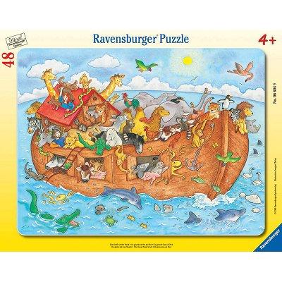 Ravensburger-06604 48 Teile Rahmenpuzzle -  Die Arche Noah