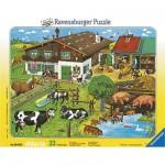 Puzzle  Ravensburger-06618 Tierfamilien
