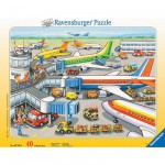 Ravensburger-06700 Puzzle 40 Teile Rahmenpuzzle - Kleiner Flugplatz