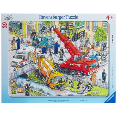 Ravensburger-06768 Rettungseinsatz, 39 Teile Rahmenpuzzle