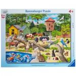 Ravensburger-06777 Rahmenpuzzle- Im Streichelzoo