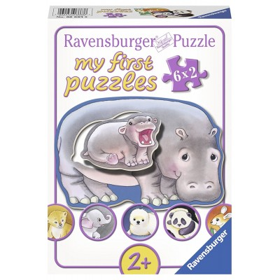 Ravensburger-06883 My First Puzzle - Hallo Tierbabys!