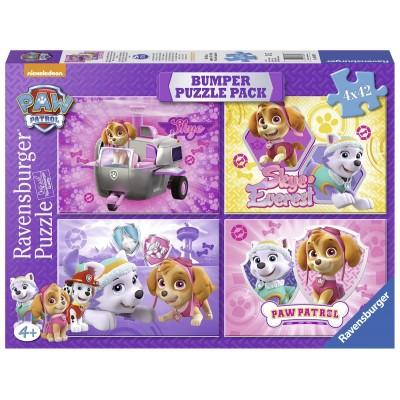 Ravensburger-06887 4 Puzzles - Paw Patrol