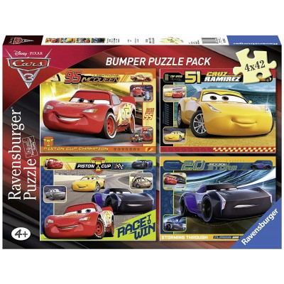 Puzzle Ravensburger-06890 Disney - Cars 3 (4 x 42 Teile)