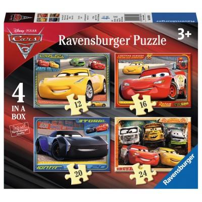 Ravensburger-06894 4 Puzzles - Cars
