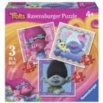 Ravensburger-06899 3 Puzzles - Trolls