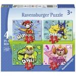Ravensburger-06923 4 Puzzles - Paw Patrol