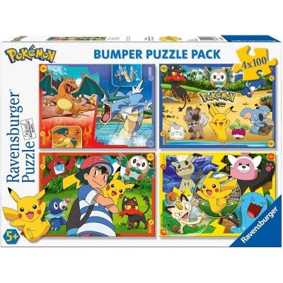 Ravensburger-06929 4 Puzzles - Pokemon