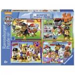 Ravensburger-06964 4 Puzzles - Paw Patrol