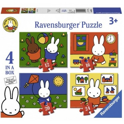 Ravensburger-06965 4 Puzzles - Nijntje