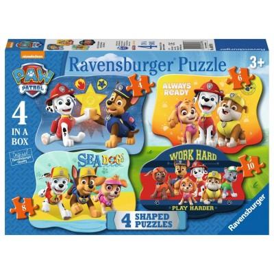 Ravensburger-06979 4 Puzzles - Paw Patrol
