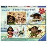 Ravensburger-06991 Bumper Pack 4 Puzzles - Vaiana